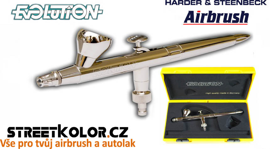 Airbrush pistole HARDER & STEENBECK Evolution Silverline Solo 0,2 mm + stojan
