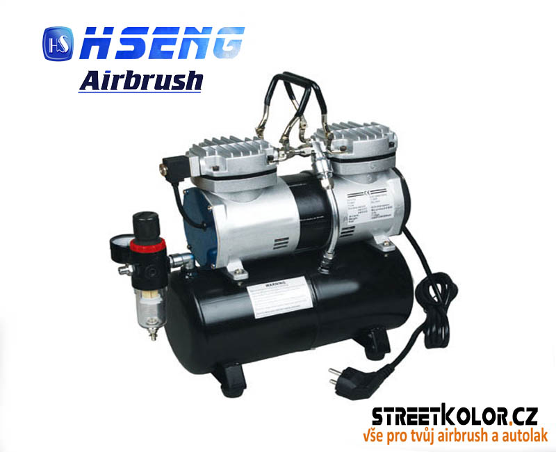 Dvouválcový airbrush kompresor HSENG ® AS-196