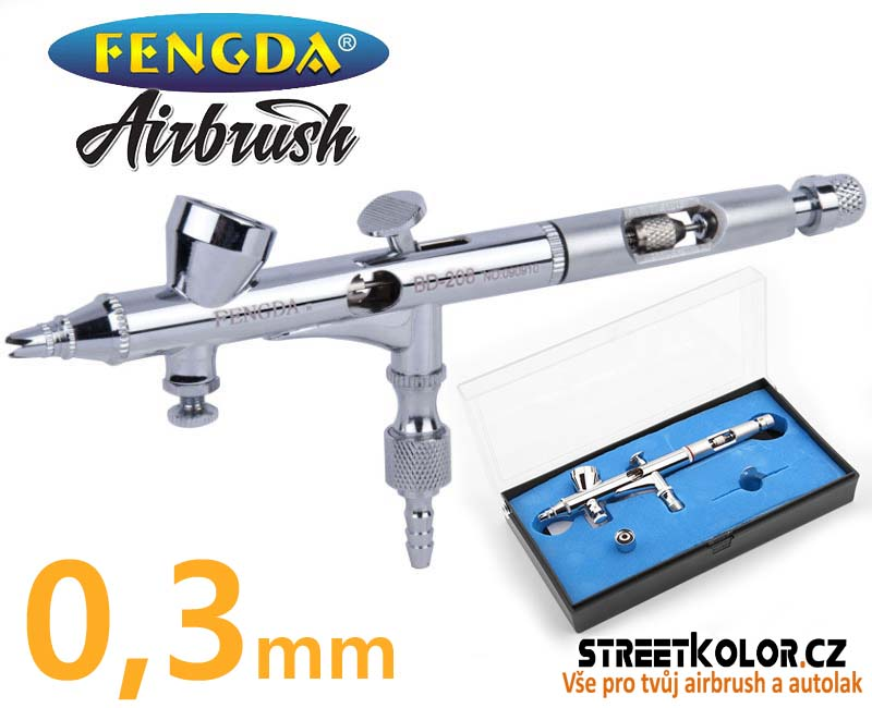 Airbrush pistole FENGDA® BD-208 0,3 mm