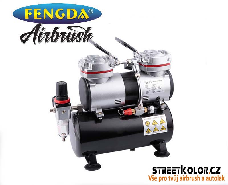 Dvouválcový airbrush kompresor FENGDA ® AS-196