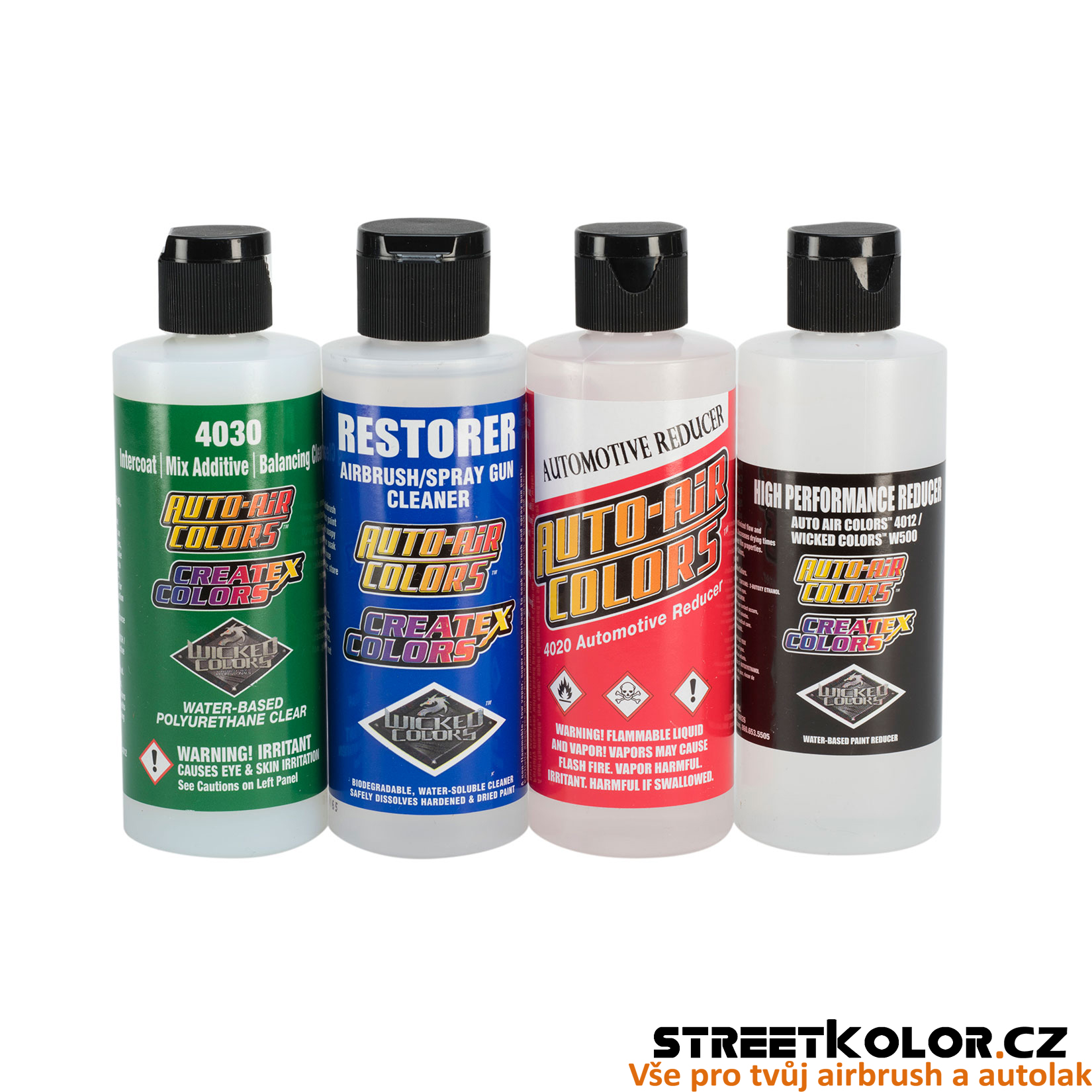 CreateX/Wicked/Auto Air Sada 4 airbrush aditiv 120 ml