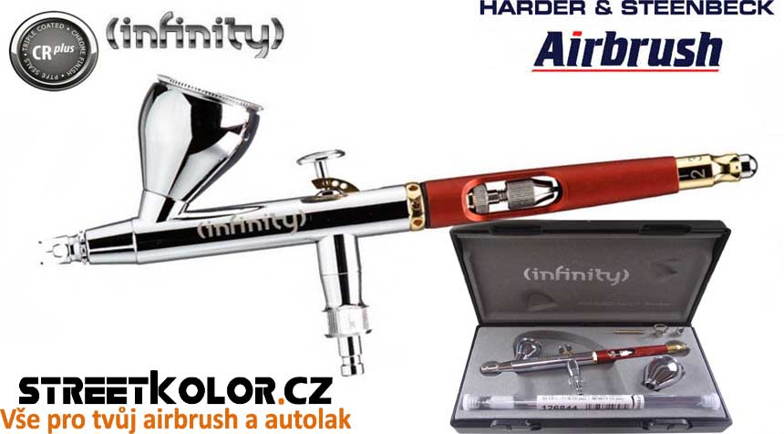 Airbrush stříkací pistole HARDER & STEENBECK Infinity CRplus 2v1 0,2+0,4 mm