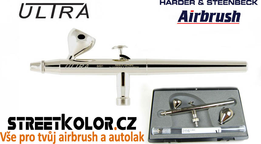 Airbrush stříkací pistole HARDER & STEENBECK ULTRA 2v1 0,2 + 0,4 mm