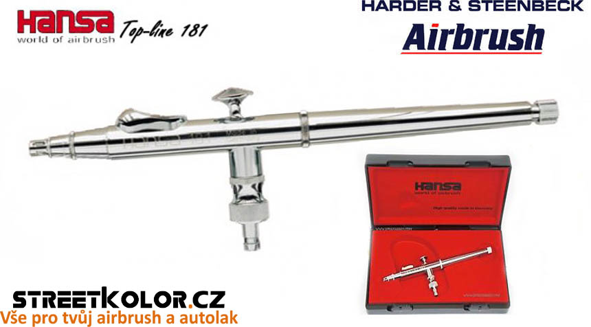 Airbrush stříkací pistole HARDER & STEENBECK Hansa Topline 181 Chrome 0,2 mm