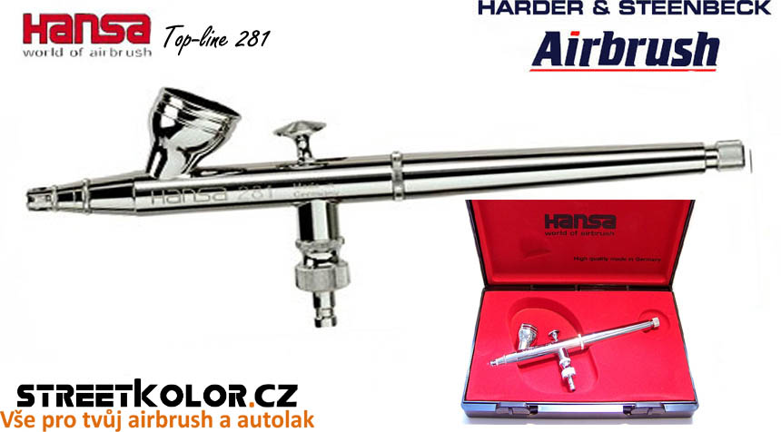 Airbrush stříkací pistole HARDER & STEENBECK Hansa Topline 281 Chrome 0,2 mm