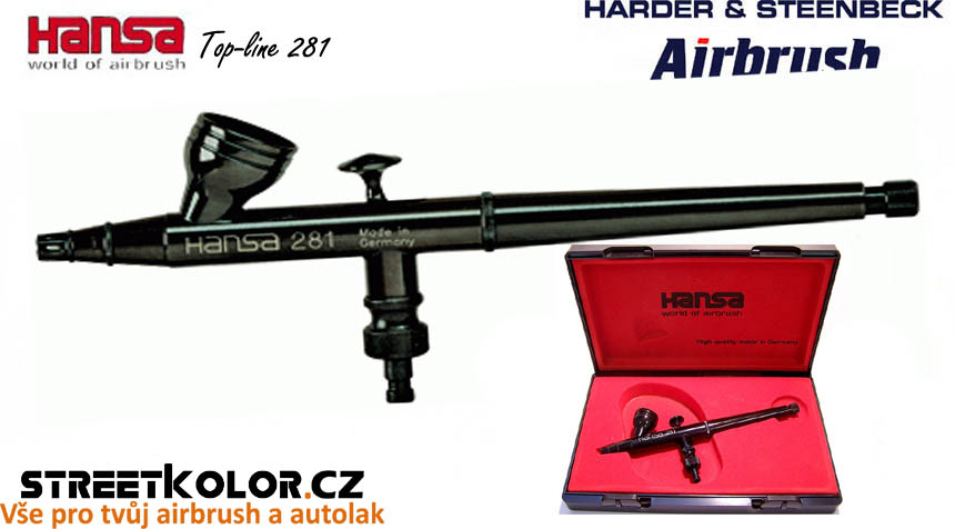 Airbrush stříkací pistole HARDER & STEENBECK Hansa Topline 281 Black 0,2 mm