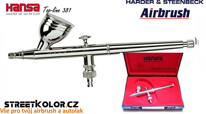 Airbrush stříkací pistole HARDER & STEENBECK Hansa Topline 381 Chrome 0,3 mm