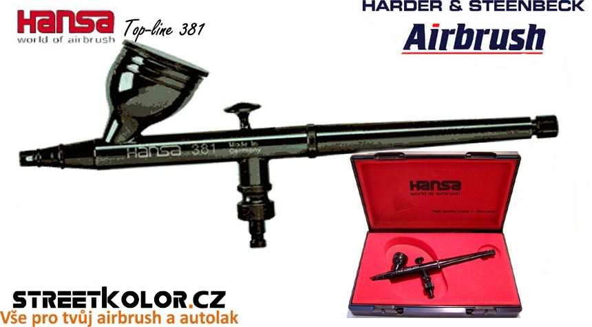 Airbrush stříkací pistole HARDER & STEENBECK Hansa Topline 381 Black 0,3 mm