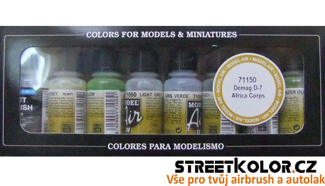Vallejo 71150 sada airbrush barev Demag D-7 Africa Corps 8x17 ml