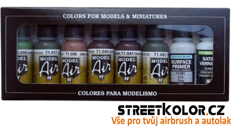 Vallejo 71158 sada airbrush barev German Camouflage 8x17 ml