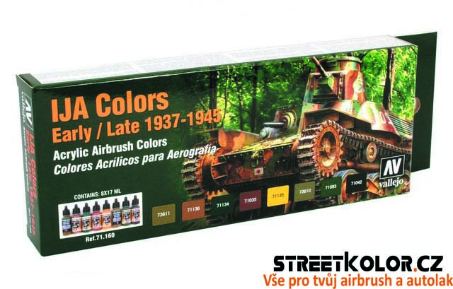 Vallejo 71160 sada airbrush barev IJA Colors 8x17 ml