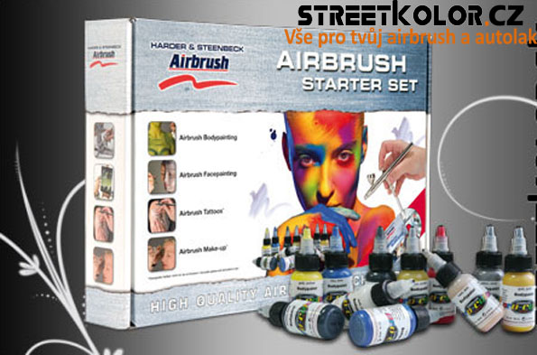 Airbrush startovací Set Body Edition HARDER & STEENBECK s kompresorem, pistolí