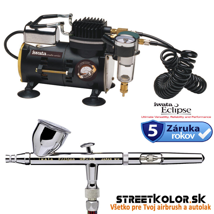 Airbrush set: kompresor Iwata IS-850 SMART JET + airbrush Iwata Eclipse HP-CS