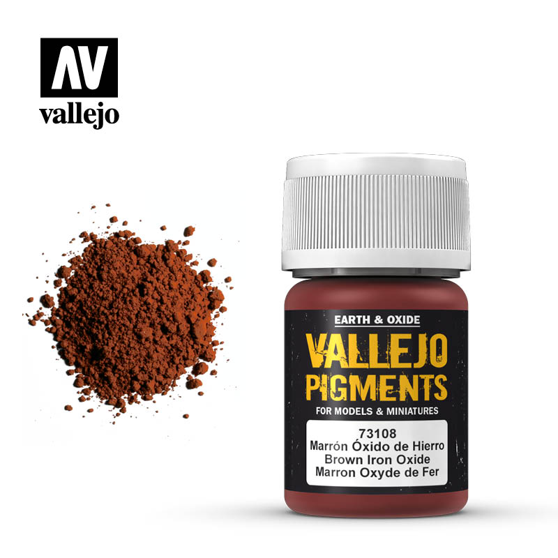 Vallejo pigment - BROWN IRON OXIDE 73108