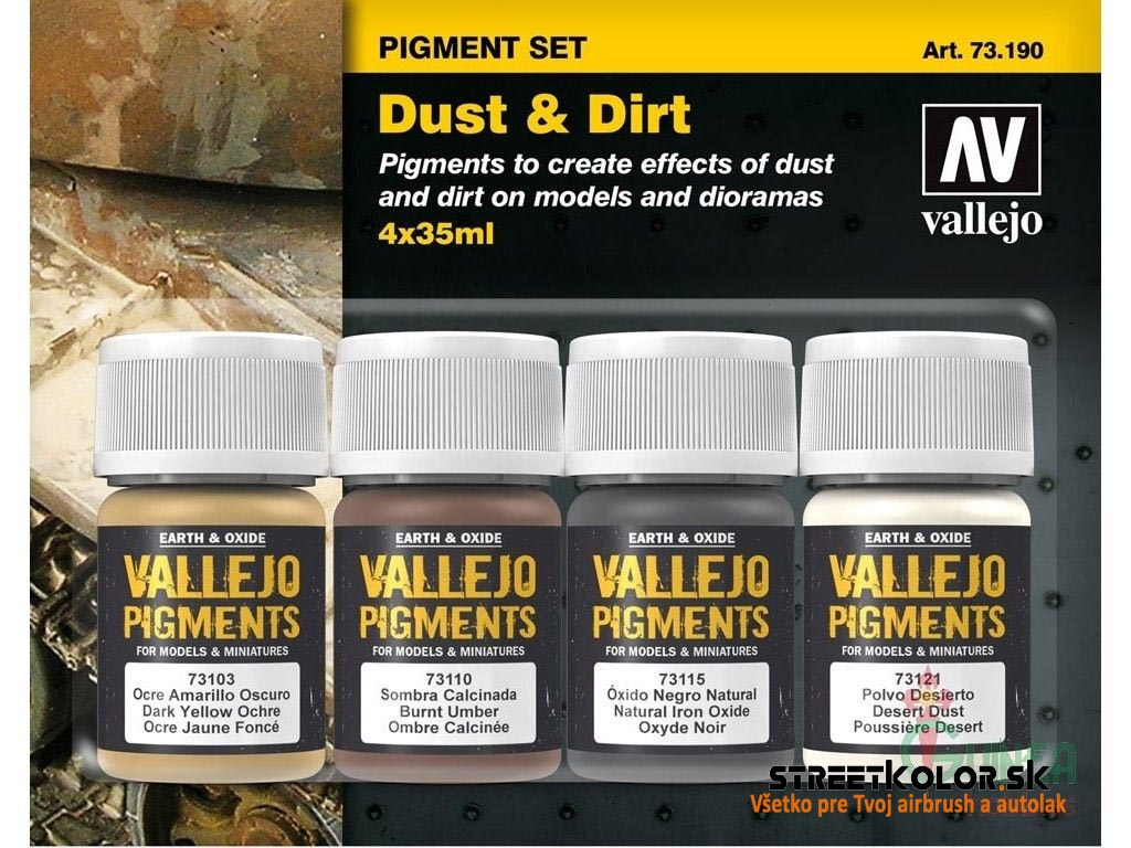 Vallejo pigment  Set Dust and Dirt 731190  4 x 30ml