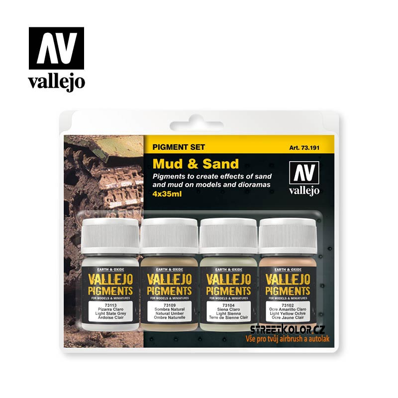 Vallejo pigment - Mud and Sand set 73191 4 x 30ml