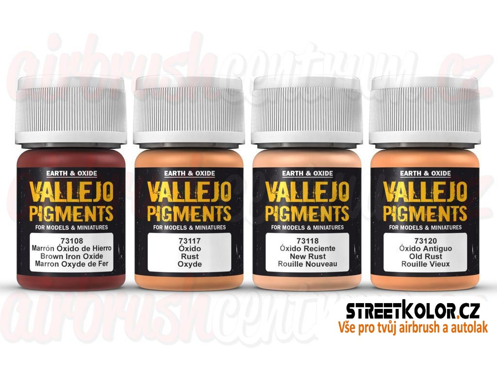Vallejo pigment - Vallejo Set Rust and Corrosion 73194 4 x 30ml