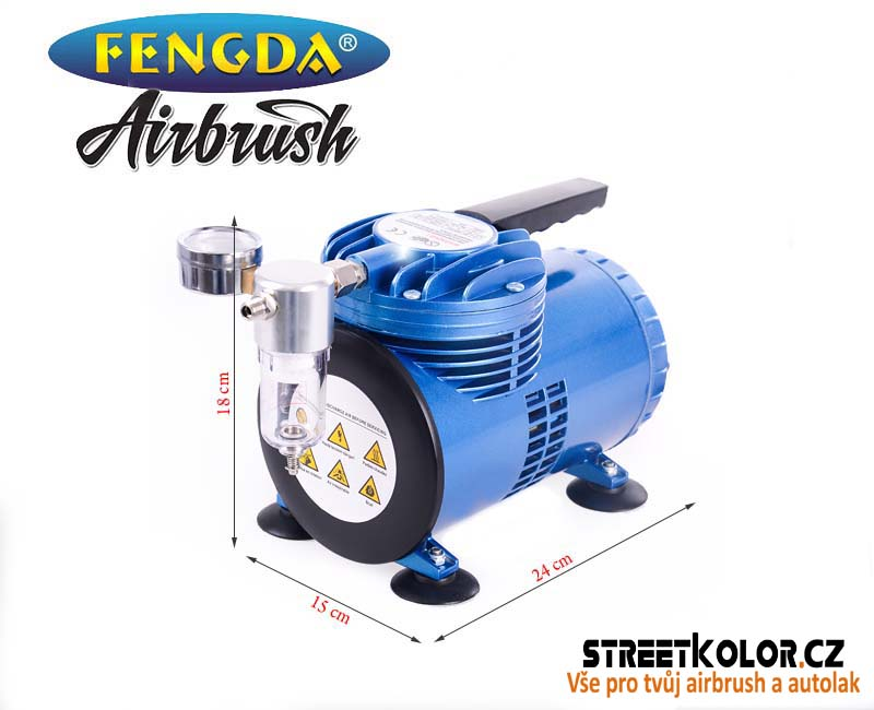 mini Airbrush membránový kompresor FENGDA AS-06, 68l/min.