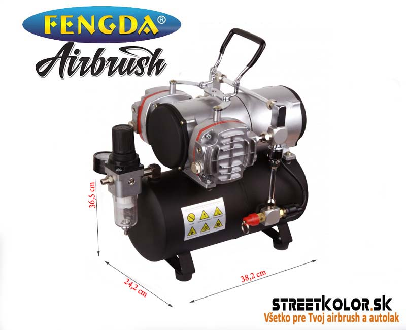 Dvouválcový Airbrush kompresor Fengda AS-28A