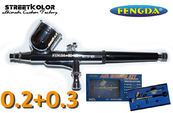 Airbrush pistole FENGDA® BD-130 0,2+0,3mm