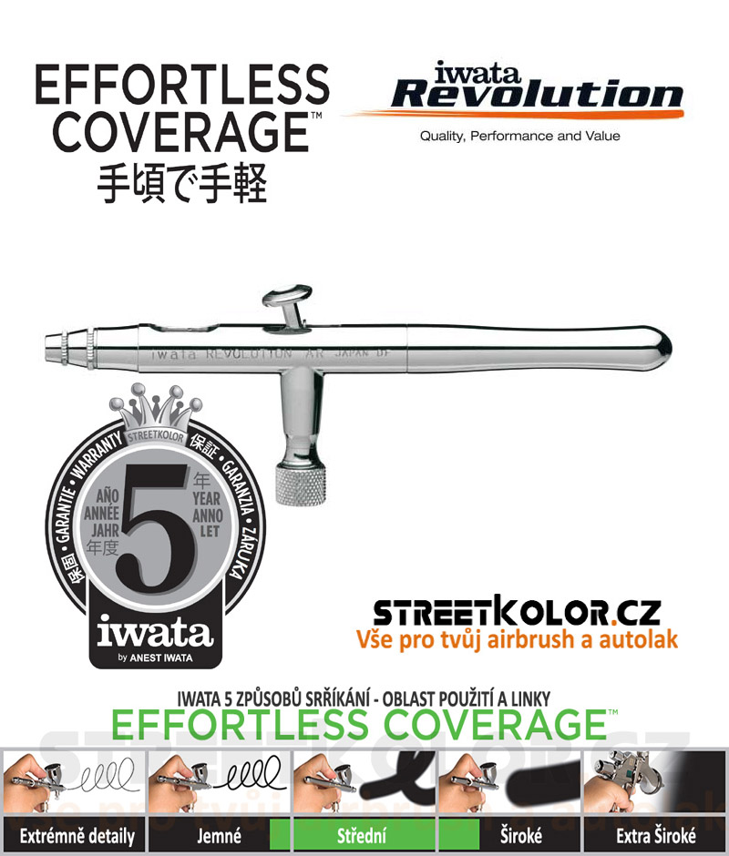 Iwata Revolution HP-AR 0,3mm  airbrush pistole