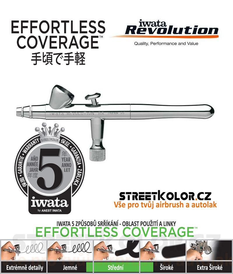 Iwata Revolution HP-BR 0,3mm  airbrush pistole