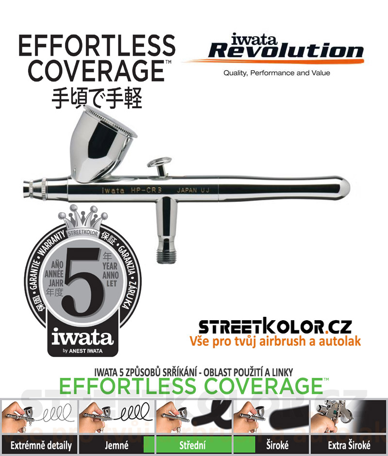Iwata Revolution HP-CR 0,5mm  airbrush pistole