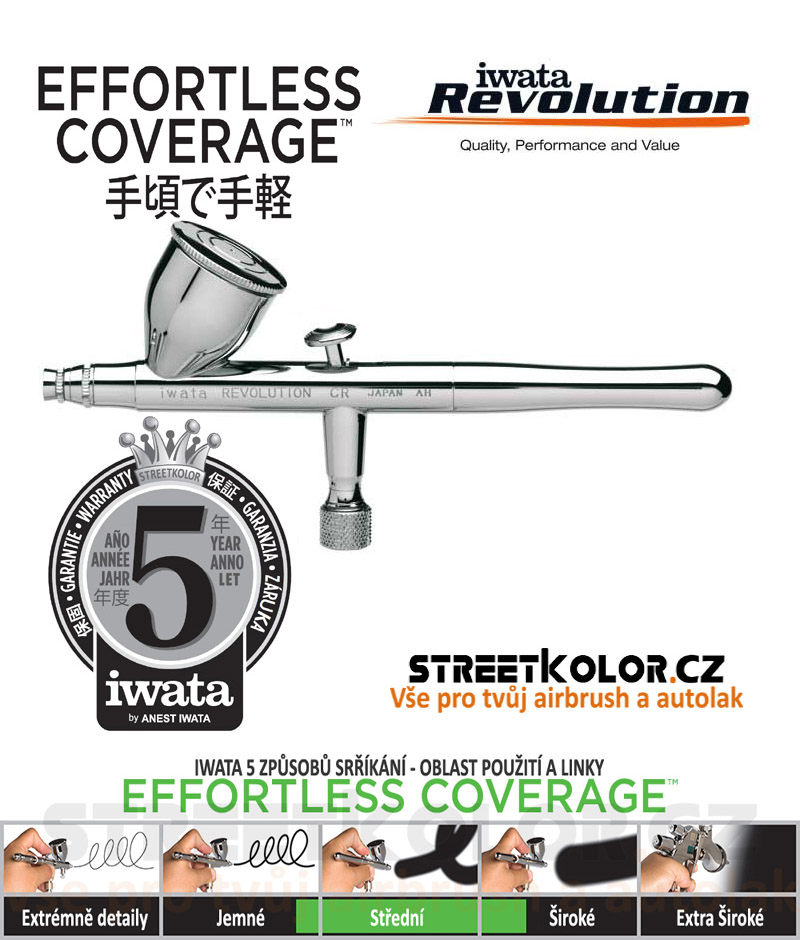 Iwata Revolution HP-CR3 0,3mm  airbrush pistole